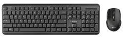 Kit tastatura fara fir si mouse optic fara fir, 23942 Ody Wireless Silent Trust