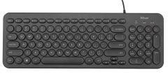 Tastatura cu fir, Muto Silent 23090 Trust