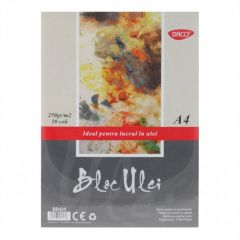 Bloc desen A4 pentru culori ulei, 10file, 250g/mp, Daco