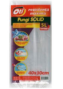 Pungi alimentare (congelator), 40x30cm, 100buc/set, Solid