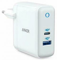 Incarcator retea, USB, 15W si USB-C, 45W, alb, PowerPort+ Atom Anker