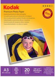 Hartie photo ink jet  glossy, A3, 200g, 20 coli/top, Premium Kodak