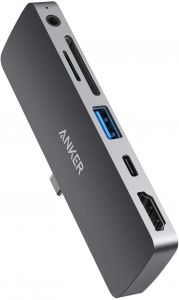 Media Hub USB-C cu USB 3.0, USB-C, HDMI 4k, micro SD, 3.5mm jack, PowerExpand Direct pentru iPad Pro