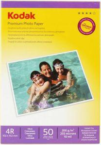 Hartie photo ink jet glossy 10x15cm, 200g, 50 coli/top, Premium Kodak