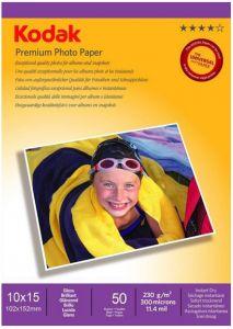 Hartie photo ink jet glossy 10x15cm, 230g, 50 coli/top, Premium Kodak