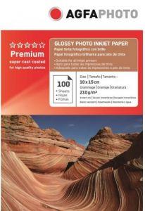 Hartie photo ink jet glossy 10x15cm, 210g, 100 coli/top, Agfa
