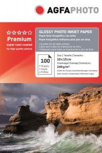 Hartie photo ink jet glossy 10x15cm, 240g, 100 coli/top, Agfa