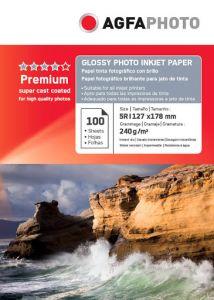 Hartie photo ink jet glossy 13x18cm, 240g, 100 coli/top, Agfa