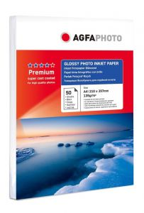 Hartie photo ink jet glossy A4, 135g, 50 coli/top, Agfa