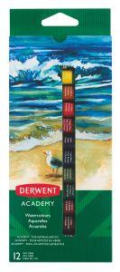 Tempera pe baza de apa, 12 buc/set, 12ml/culoare, Derwent Academy