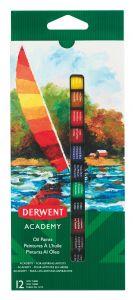 Culori ulei, tub 12ml, 12culori/set, Derwent Academy