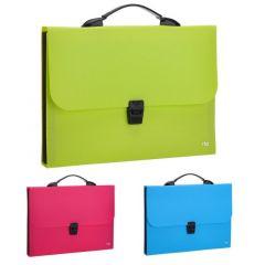 Servieta plastic diverse culori neon, 7 compartimente, Deli