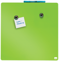 Whiteboard magnetic, 36cm x 36cm, verde, Nobo