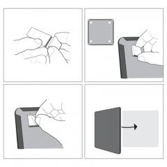 Whiteboard magnetic, 36cm x 36cm, mov, Nobo