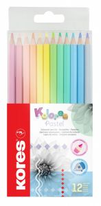 Creioane colorate 12culori/set Pastel Kores-KO93311