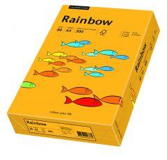 Hartie copiator A4, 80g, colorata in masa portocaliu mediu, Rainbow 22