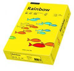Hartie copiator A4, 80g, colorata in masa galben intens, Rainbow 18