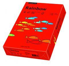 Hartie copiator A4, 80g, colorata in masa rosu intens, Rainbow 28