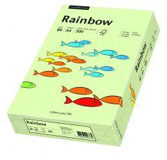 Hartie copiator A4, 80g, colorata in masa verde pal, Rainbow 72