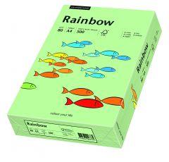 Hartie copiator A4, 80g, colorata in masa verde mediu, Rainbow 75