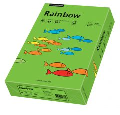 Hartie copiator A4, 80g, colorata in masa verde intens, Rainbow 78