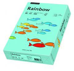 Hartie copiator A4, 80g, colorata in masa albastru mediu, Rainbow 84