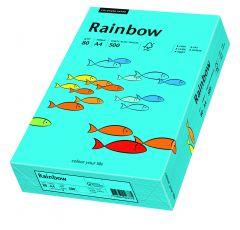 Hartie copiator A4, 80g, colorata in masa albastru, Rainbow 87
