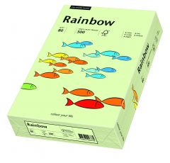 Hartie copiator A3, 80g, colorata in masa verde pal, Rainbow 72