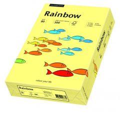 Hartie copiator A3, 80g, colorata in masa galben pal, Rainbow 12