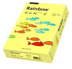 Carton copiator A4, 160g, colorat in masa galben pal, Rainbow 12