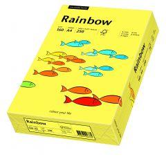 Carton copiator A4, 160g, colorat in masa galben, Rainbow 16