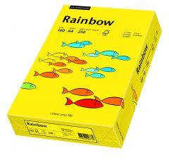 Carton copiator A4, 160g, colorat in masa galben intens, Rainbow 18