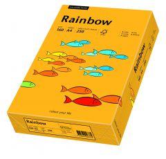 Carton copiator A4, 160g, colorat in masa portocaliu mediu, Rainbow 22