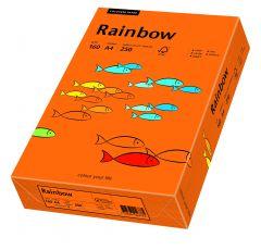 Carton copiator A4, 160g, colorat in masa portocaliu intens, Rainbow 26