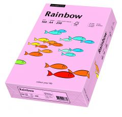 Carton copiator A4, 160g, colorat in masa roz pal, Rainbow 54