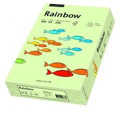 Carton copiator A4, 160g, colorat in masa verde pal, Rainbow 72