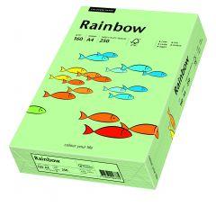 Carton copiator A4, 160g, colorat in masa verde mediu, Rainbow 75