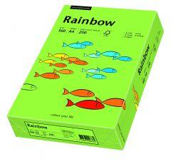 Carton copiator A4, 160g, colorat in masa verde, Rainbow 76