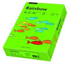 Carton copiator A4, 160g, colorat in masa verde intens, Rainbow 78