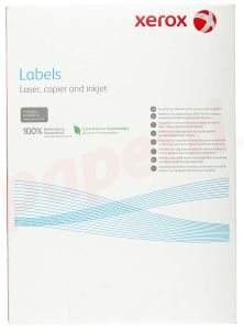 Etichete autoadezive albe 21/A4, 63,5x38,1mm, colt rotunjit, 100coli/cutie, Xerox 3R96298