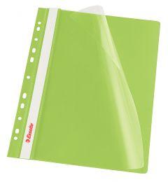 Dosar plastic cu sina si multiperforatii, verde deschis, Esselte