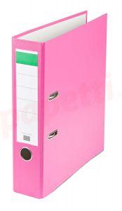 Biblioraft plastifiat 7,5cm, roz, Benson