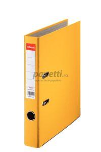 Biblioraft plastifiat 5cm, galben, Economy Esselte