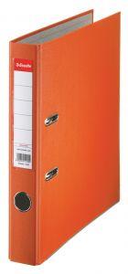 Biblioraft plastifiat 5cm, portocaliu, Economy Esselte