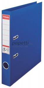 Biblioraft plastifiat exterior/interior 5cm, albastru, Nr.1 Power Esselte