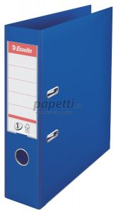 Biblioraft plastifiat exterior/interior 7,5cm, albastru, Nr.1 Power Esselte