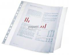 File de protectie A4, transparente, cu clapa laterala, 100 mic, 10buc/set, Esselte