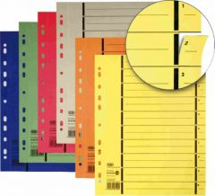 Separatoare carton verde A4 100buc/set Elba