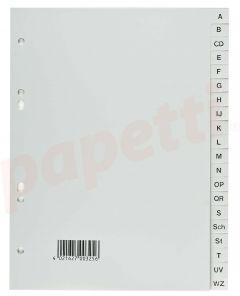Separatoare plastic A4 A-Z gri, Exxo