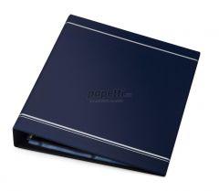Clasor pentru carti vizita cu inele albastru A4, 10/pagina, Visifix 238807 Durable